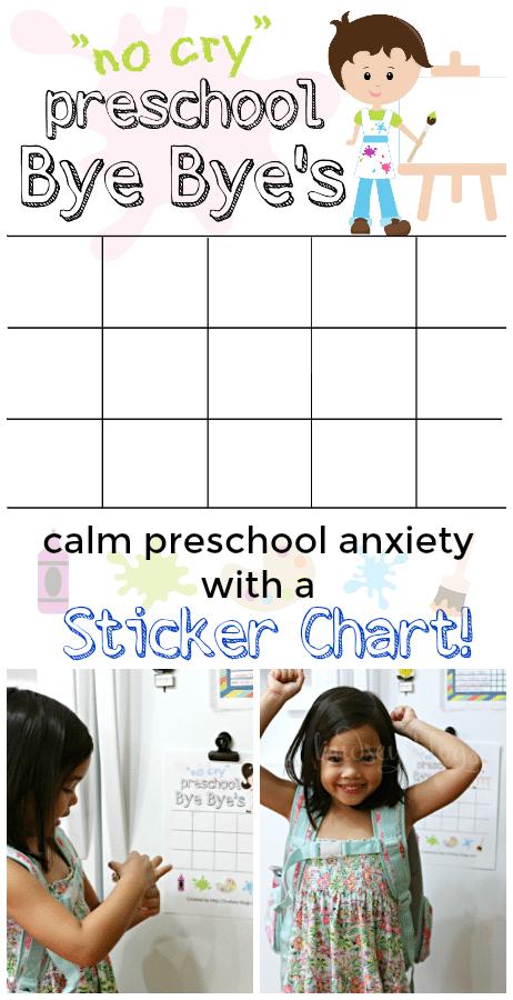 Preschool Sticker Chart Separation Anxiety