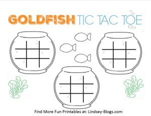 Goldfish Tic Tac Toe Games to Play with Your Kids  Free Printable