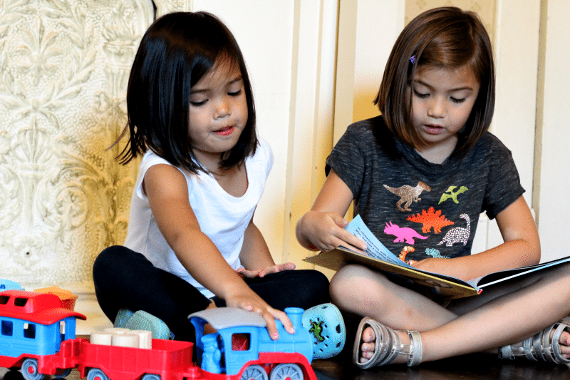 playing-with-green-toys-books-reading