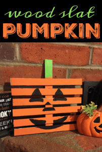 DIY Pumpkin Craft using Wood Slats