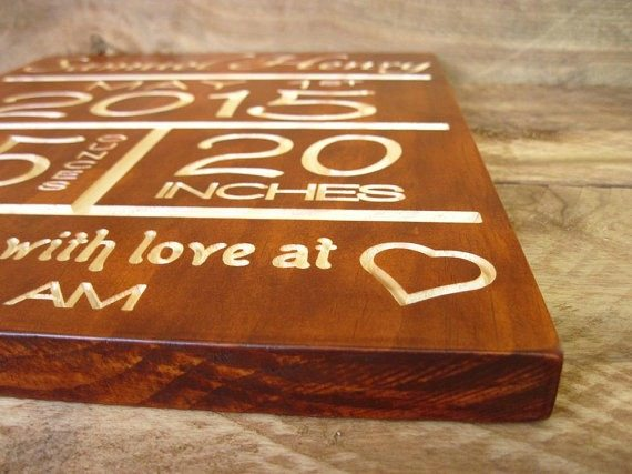 Personalized Wooden Signs from Little River Woodcraft – Birth Announcement Signs