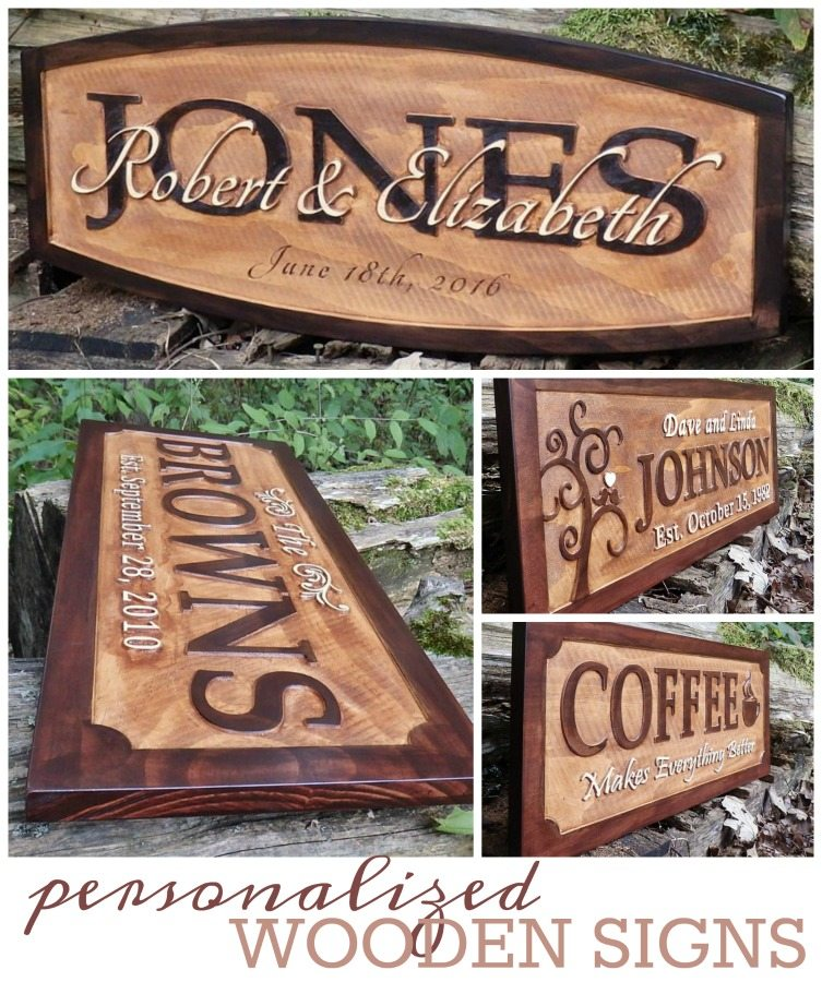 Personalized Wooden Signs From Little River Woodcraft