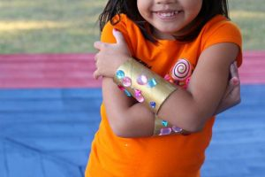 Shimmer and Shine Costumes: DIY Jewel Bracelet Cuffs
