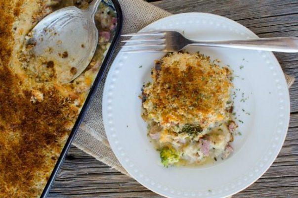 Ham-Broccoli-Spaghetti-Squash-Casserole-Plate-603x400