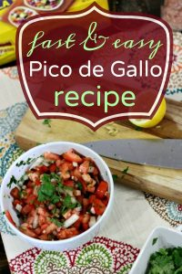 Easy and Fast Pico de Gallo Recipe
