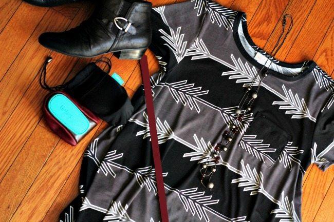 Styling a LuLaRoe Carly with Tieks and Belt