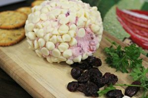 White Chocolate Cranberry Holiday Cheese Ball Recipe