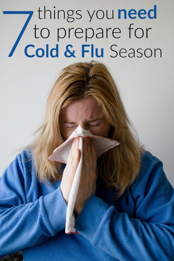 Woman blowing nose; home remedies for cold and flu season