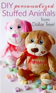 DIY Personalized Stuffed Animals