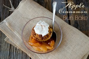 Easy Cinnamon Bun Recipe Twist: Apple Cinnamon Bun Bake