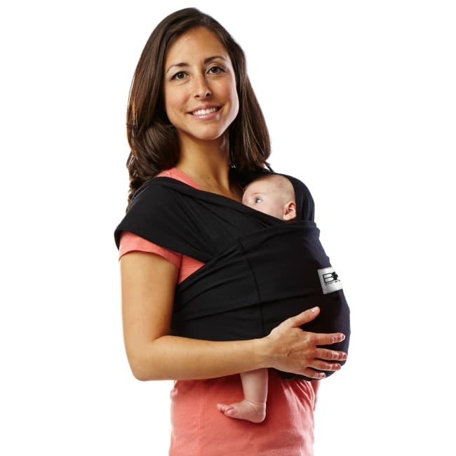 Baby Ktan Organic Baby Carrier; Woman holding baby in baby wrap