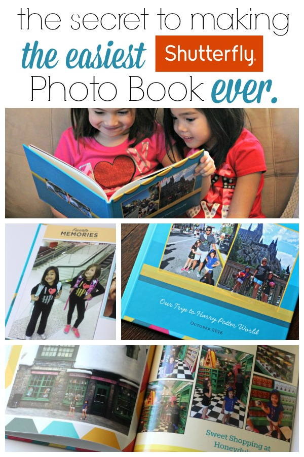 Secret to Making a Shutterfly Photo Book in Minutes