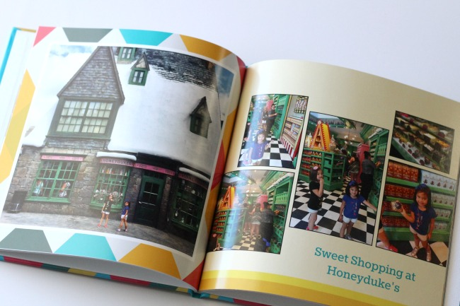 Shutterfly photo book of Wizarding Word of Harry Potter