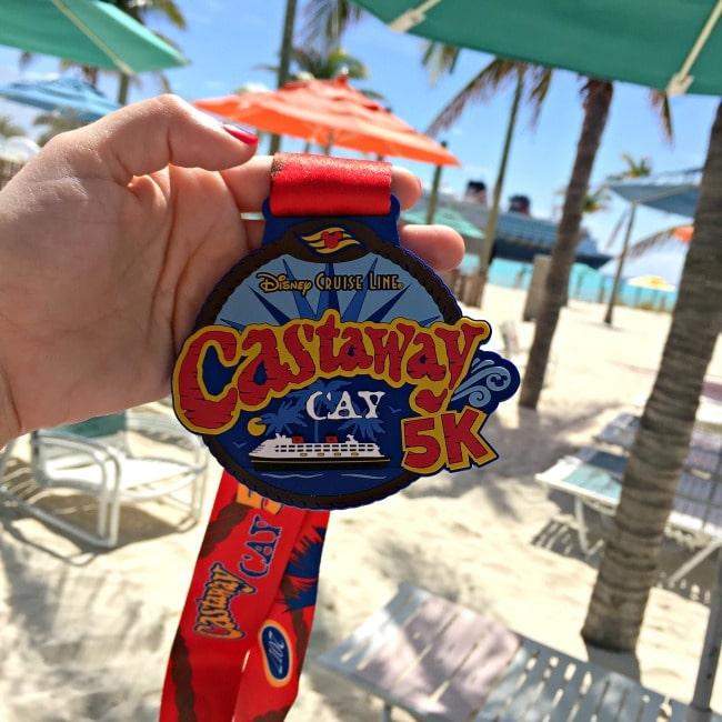 Disney Cruise Castaway Cay 5K Race Medal