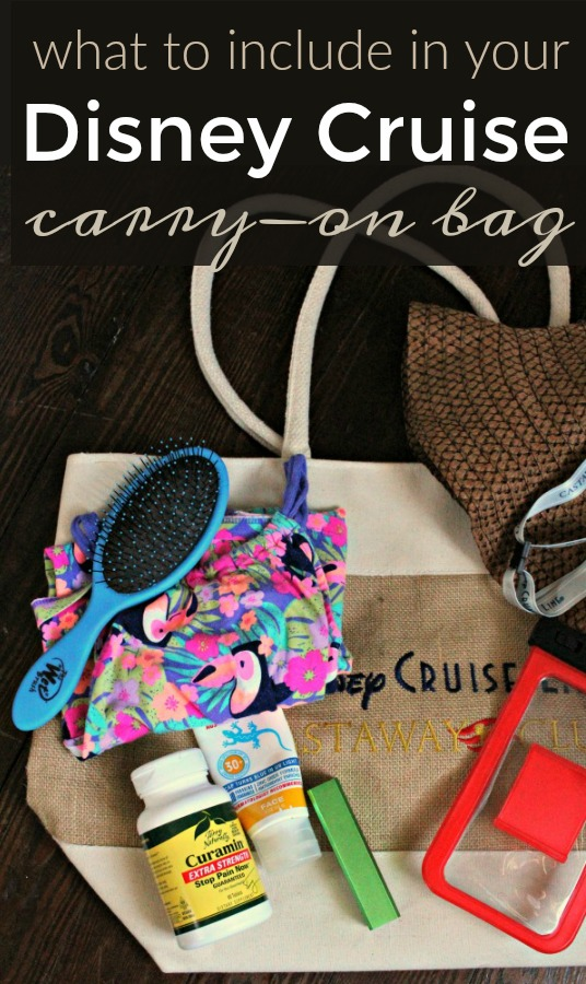 Cruise Packing List for your Disney Carry-On Bag