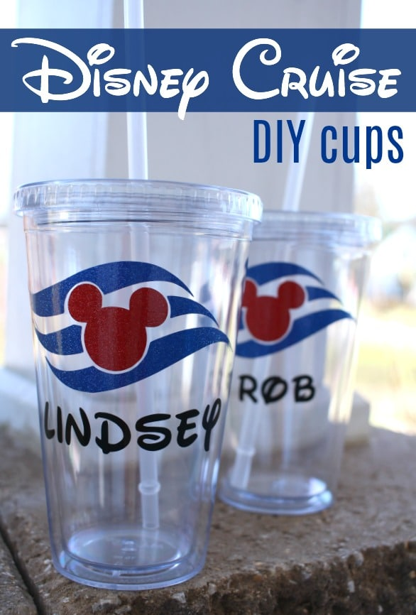DIY Disney Cruise Cups