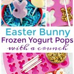 Easter Bunny Frozen Yogurt Pops with granola