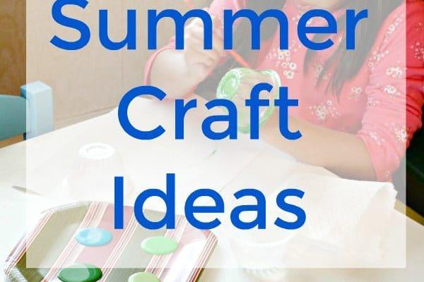 A list of Kids Summer Craft Ideas