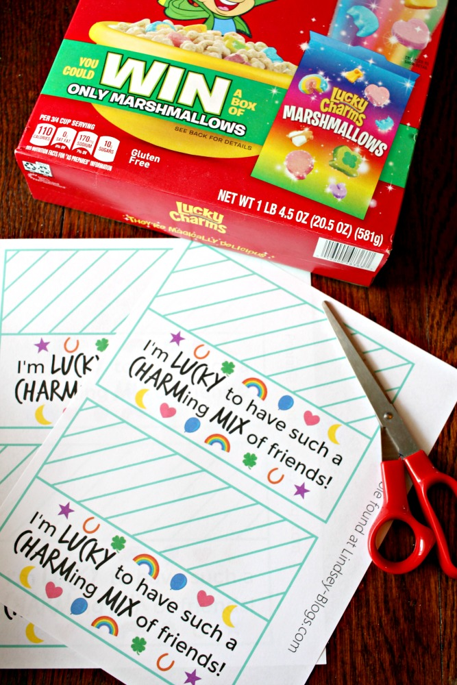 FREE Printable for Lucky Charms Snack Mix Treat Bags