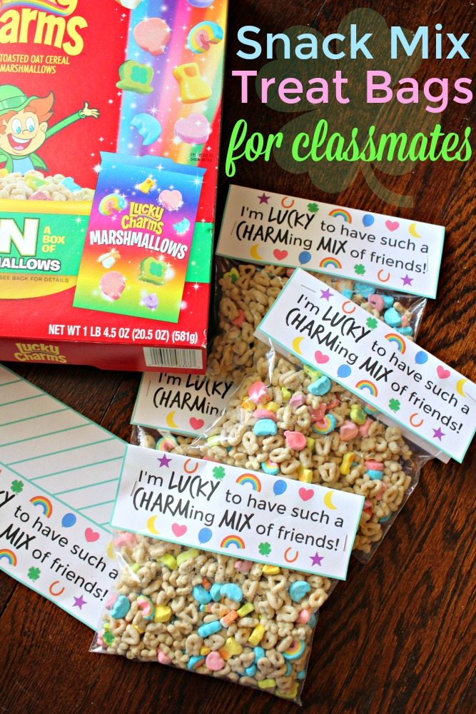 Lucky Charms Snack Mix Treat Bags