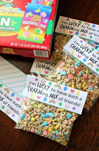 Lucky Charms Snack Mix Bags for Friends