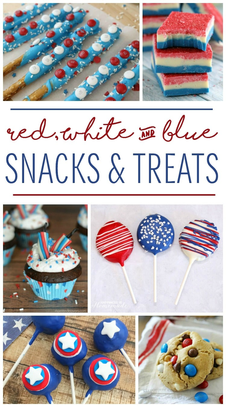Red White and Blue Snacks and Treats for July 4th Party