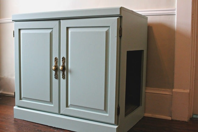 Cabinet to Hide a Cat Litter Box