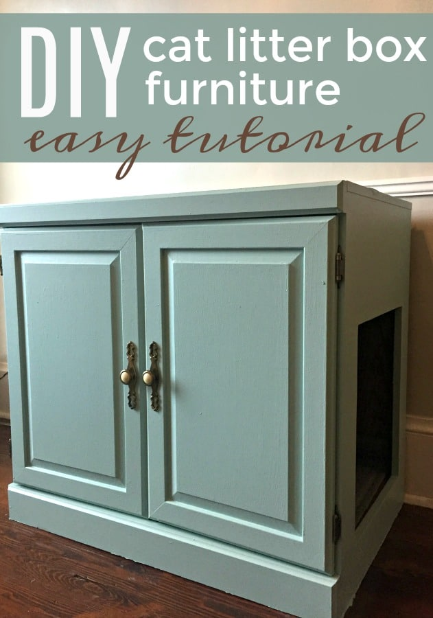 DIY Cat Litter Box Furniture Tutorial