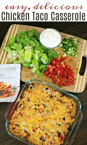 Delicious and Easy Chicken Taco Casserole