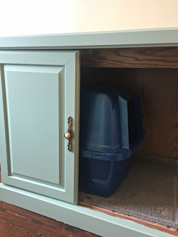 Old Cabinet To Cat Litter Box Furniture Wow Hide A