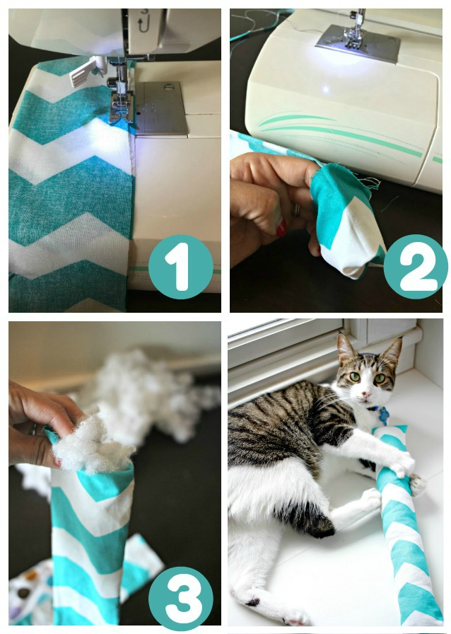 steps to make cat kicker toy