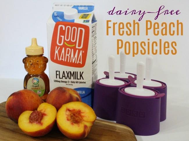 Dairy-Free Fresh Peach Popsicles