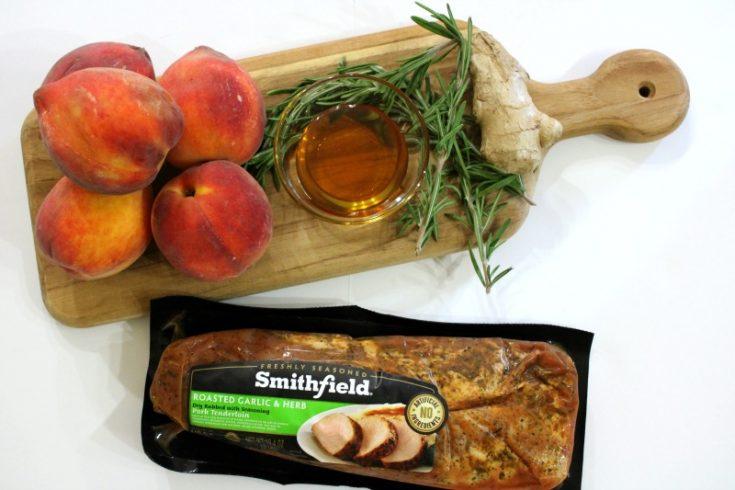 Grilled Pork Tenderloin with Peaches