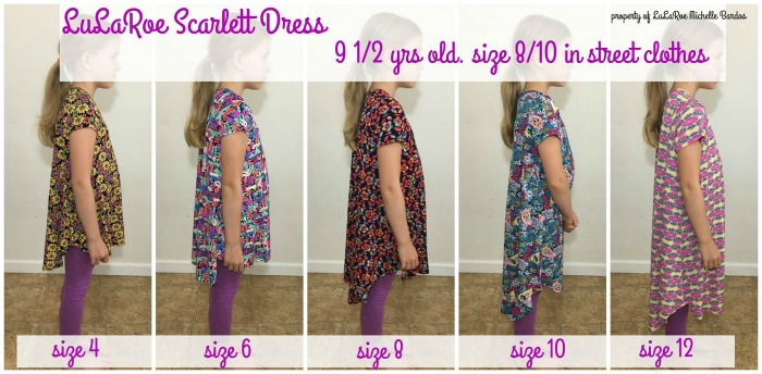 LuLaRoe for Kids Dress Sizing