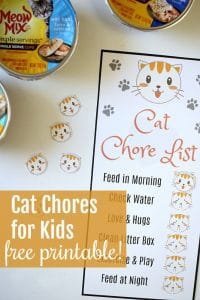 Pet Care for Kids + Free Printable Kids Pet Chores Chart