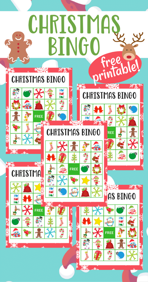 graphic relating to Holiday Bingo Printable titled Printable Xmas Bingo for Preschoolers