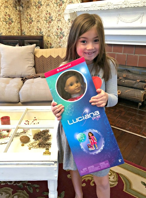 American Girl doll box Luciana