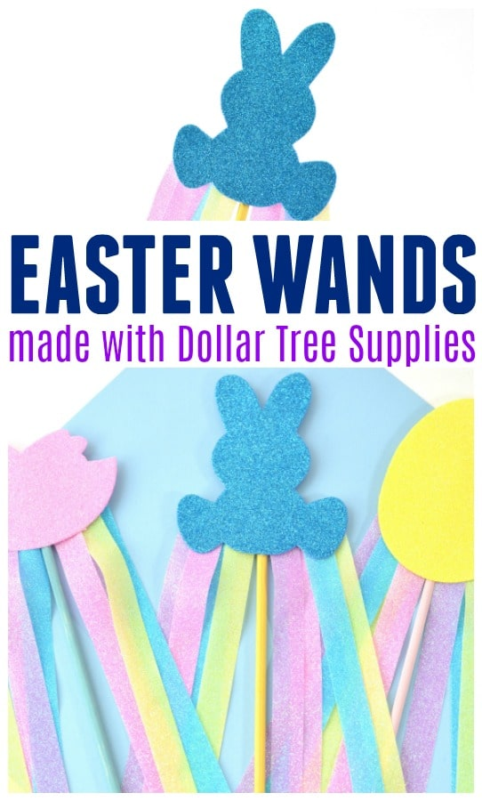 Easter Wands made from Dollar Tree Supplies
