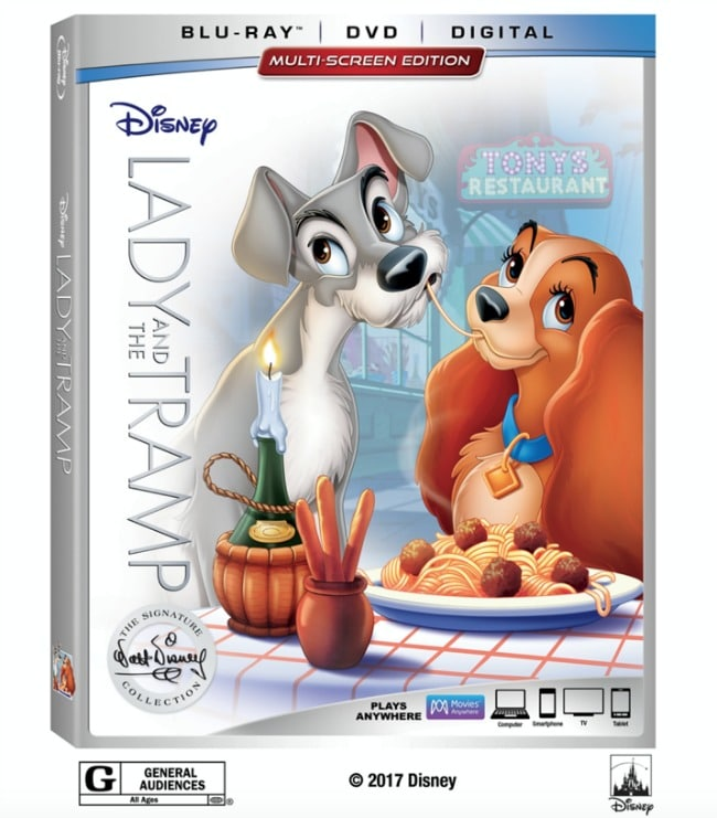 lady and the tramp on blu ray