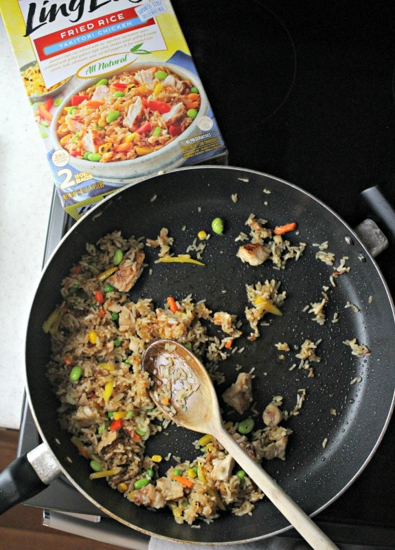 Fried Rice in pan on stove