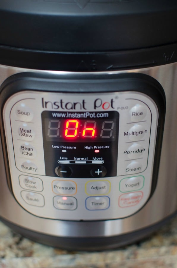 Instant Pot settings and buttons