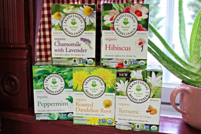 organic herbal teas from Traditional Medicinals