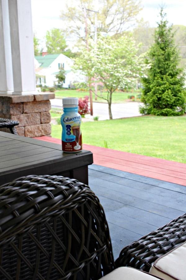 glucerna shakes sitting outside