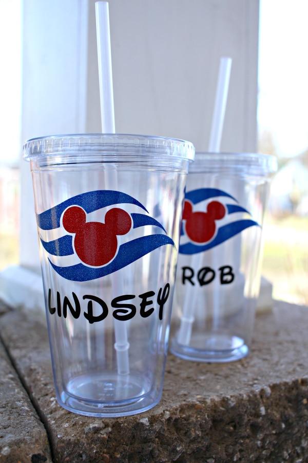 custom disney cruise line cups