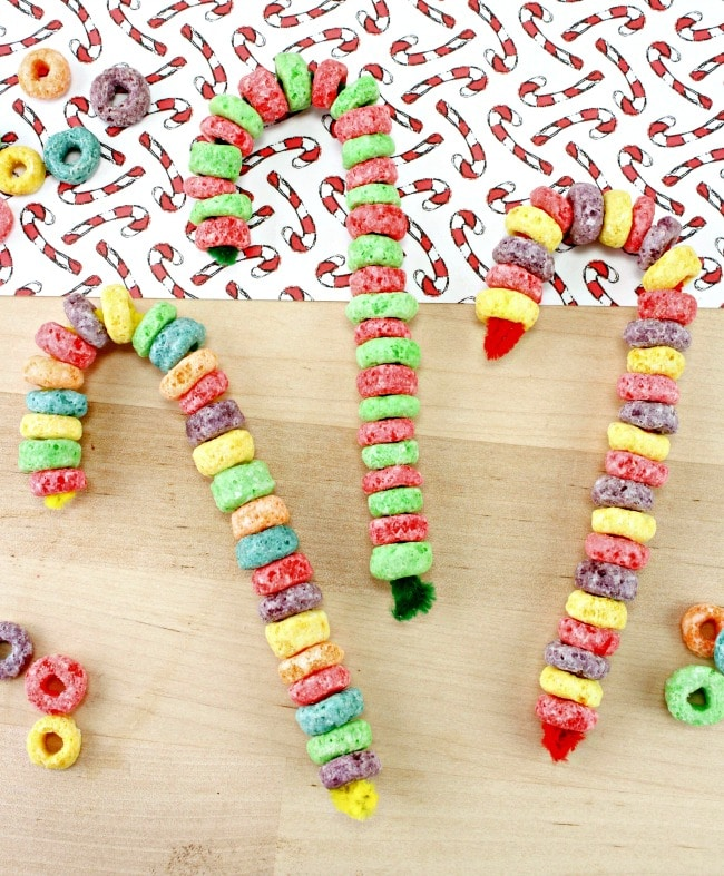 Fruit Loop Candy Cane Craft