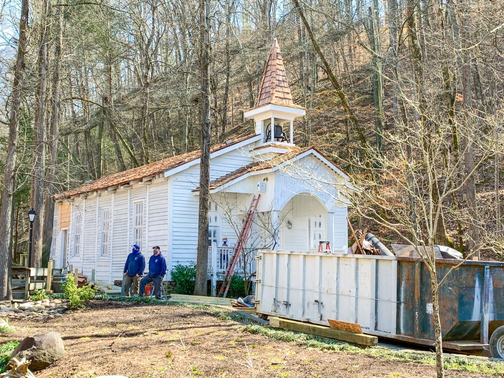dollywood chapel construction