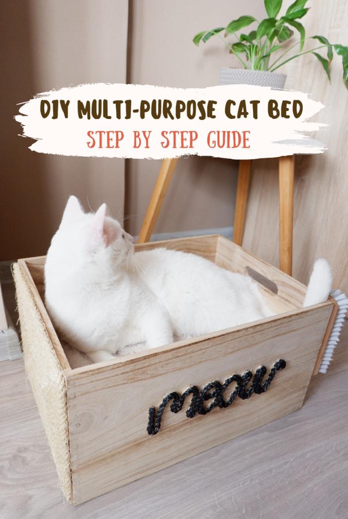 Wooden Box DIY Cat Bed